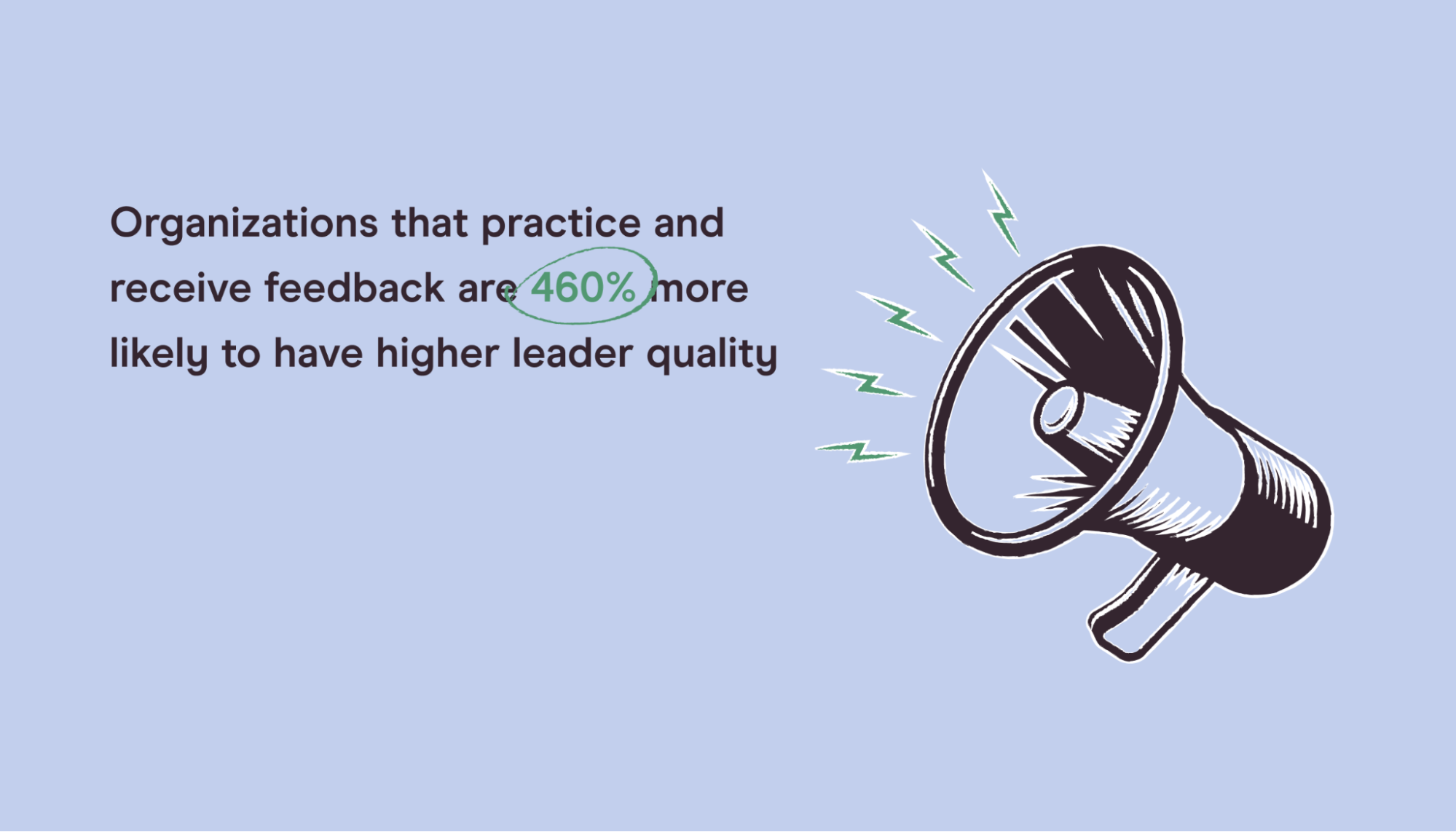 statistic on giving and receiving feedback as a leader