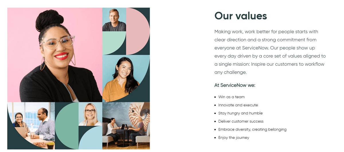 ServiceNow company values