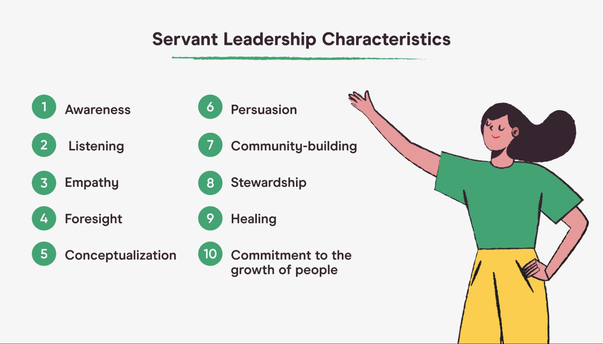servant leadership characteristics