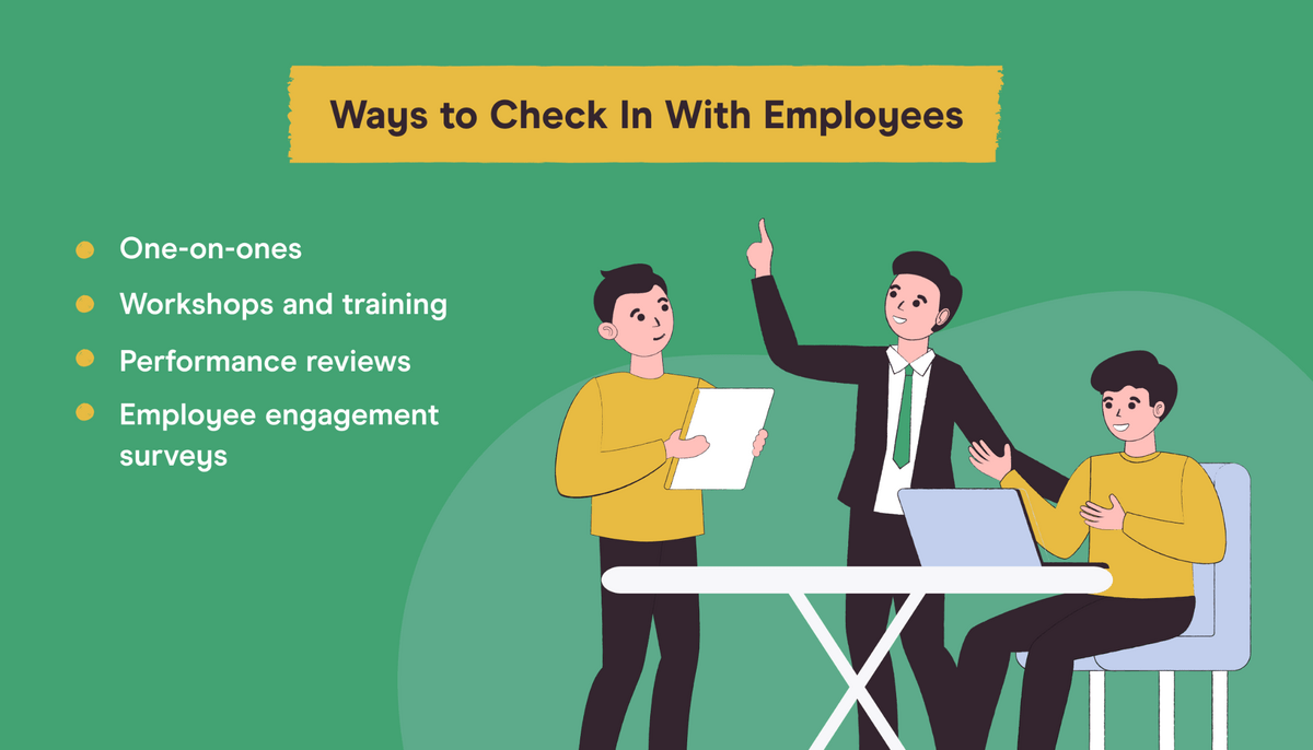 ways to check in with employees